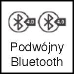 ikona kask rowerowy - podwójny bluetooth 4.0